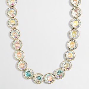 J. Crew Iridescent Crystal Dots Statement Necklace
